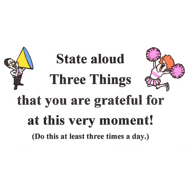 State Aloud Three Things